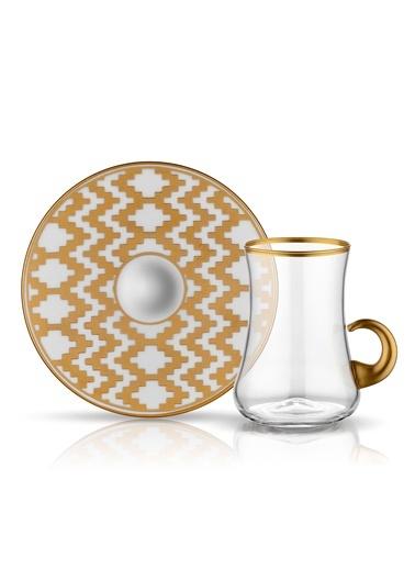 Koleksiyon Dervish Kulplu Çay Seti 6'lı Kilim-Koleksiyon